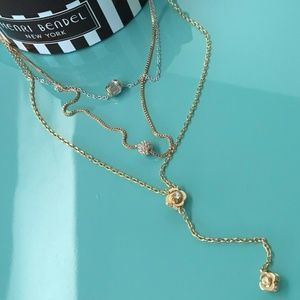 Henri Bendel Luxe Petal Y Necklace Yellow Gold 😊